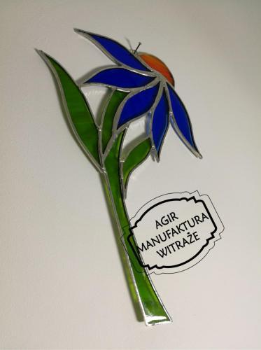 kwiat zawieszka witraż szkło Tiffany