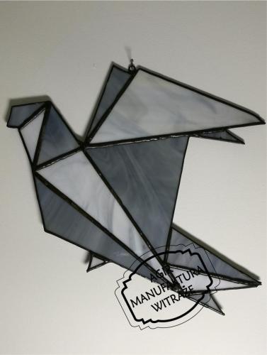 geometryczny ptak witraż zawieszka Tiffany okno ściana