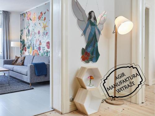 witraż anioł wizualizacja mieszkanie pokój